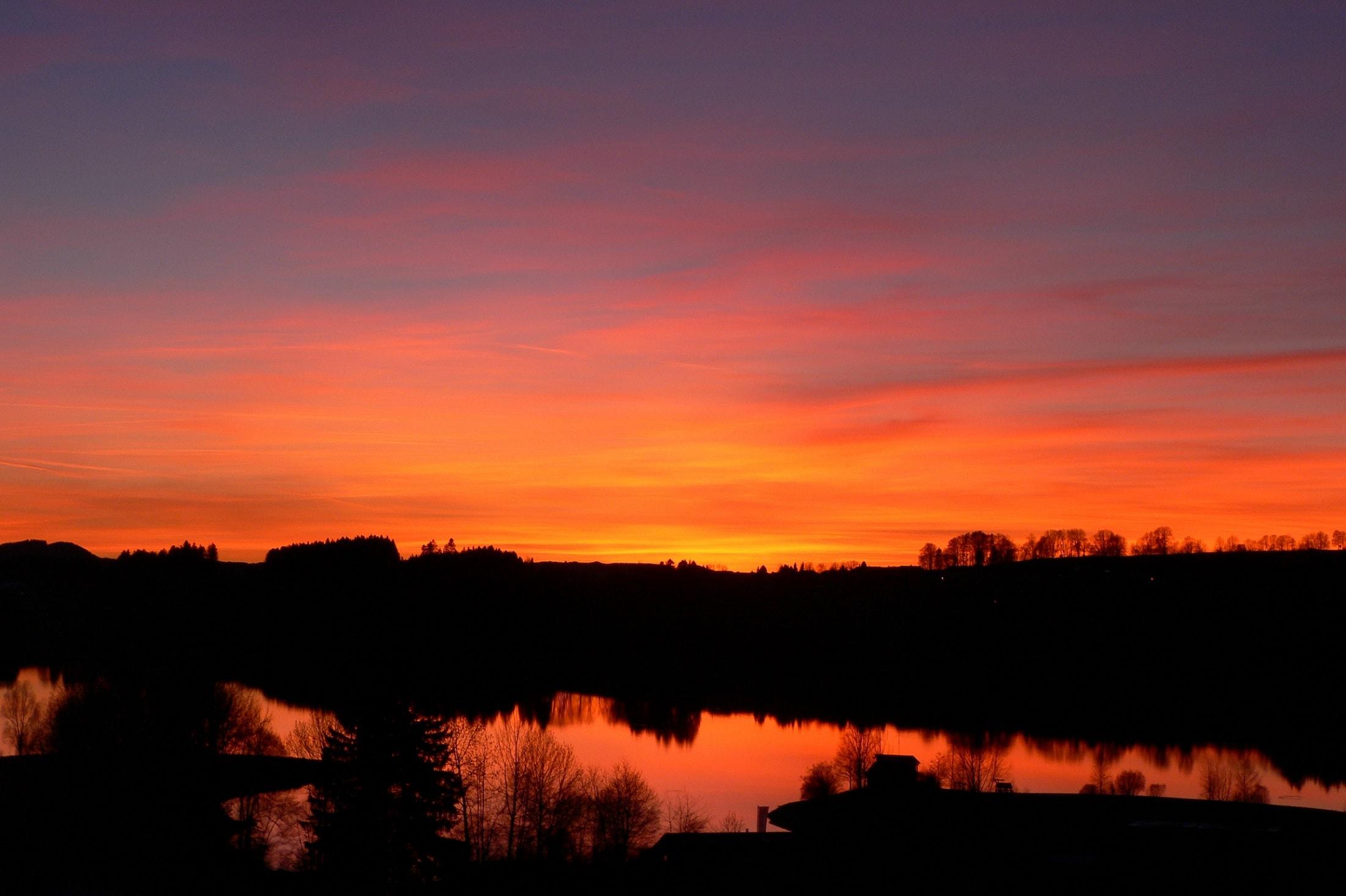 Sonnenuntergang Rottachspeicher