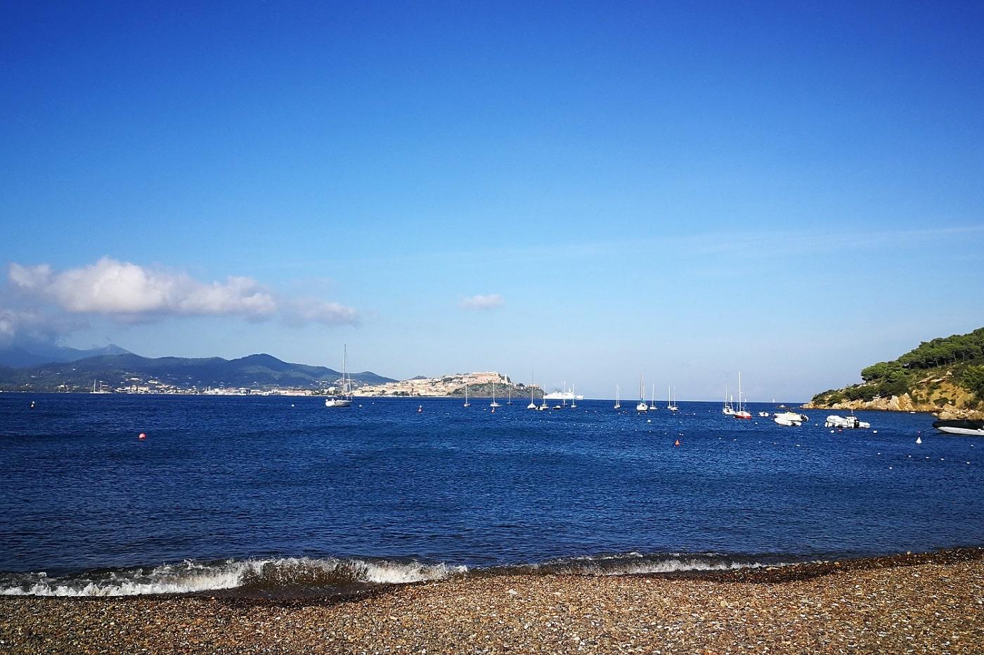 Blick auf Portoferraio von Bagnaia aus
