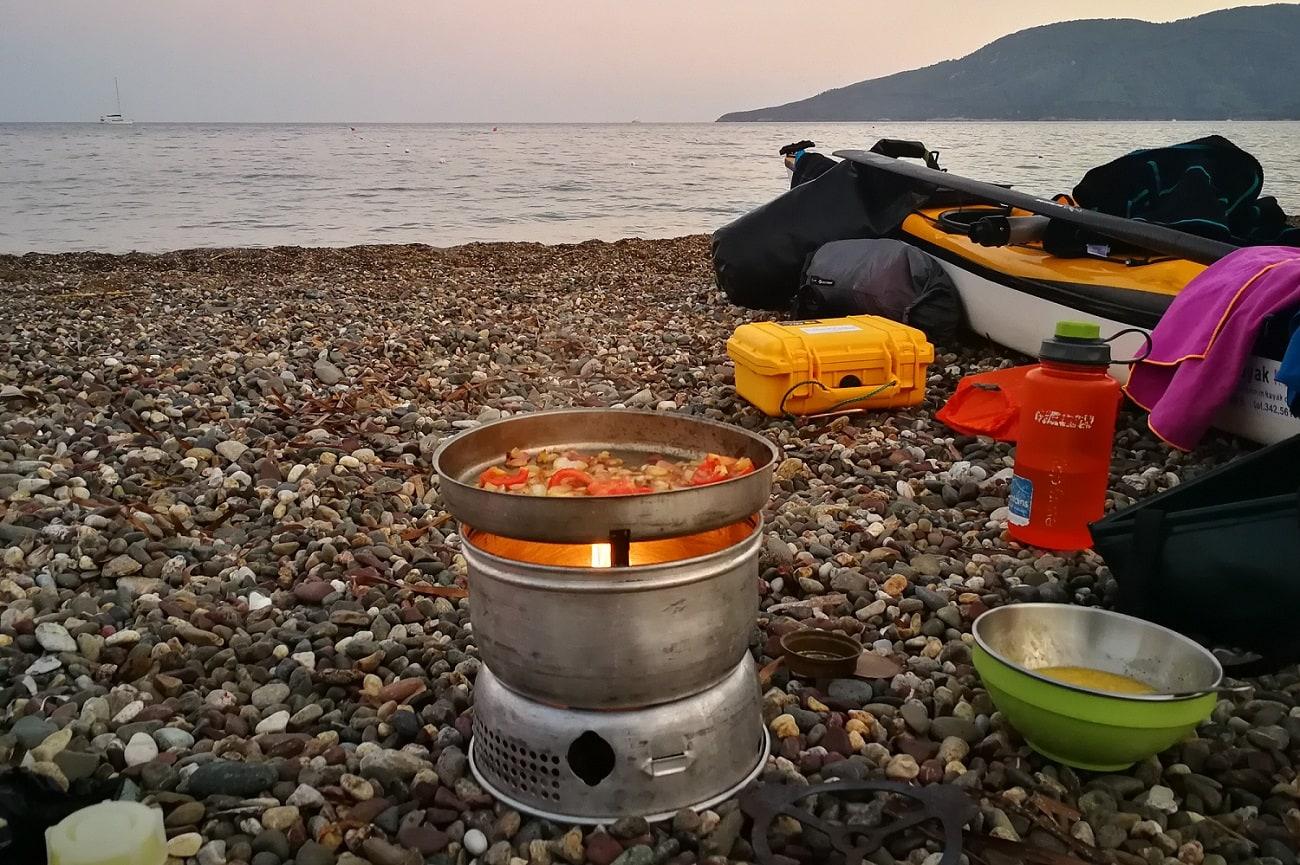 Kochen am Strand