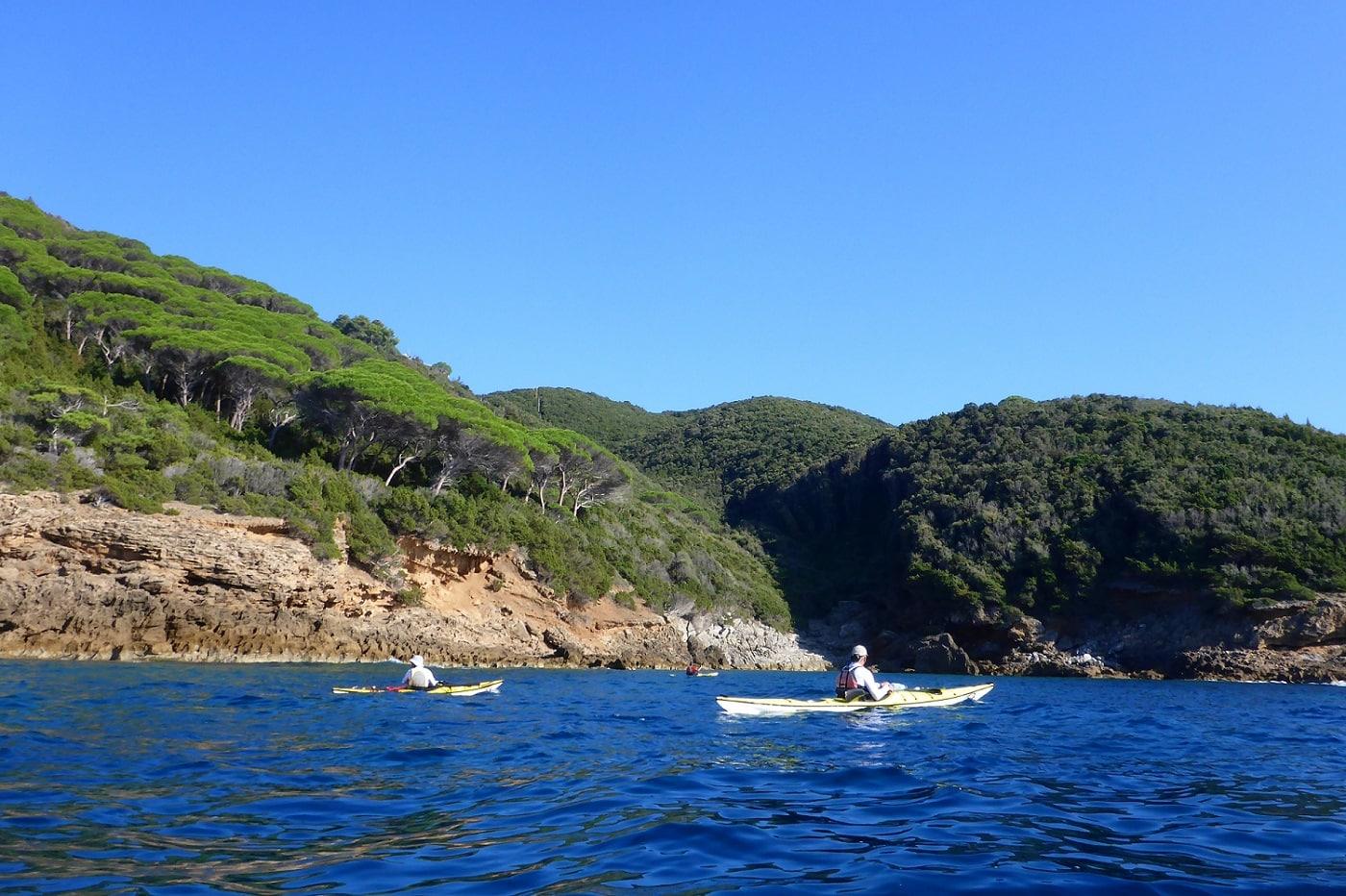 Seekajak Elba an der Nordkueste