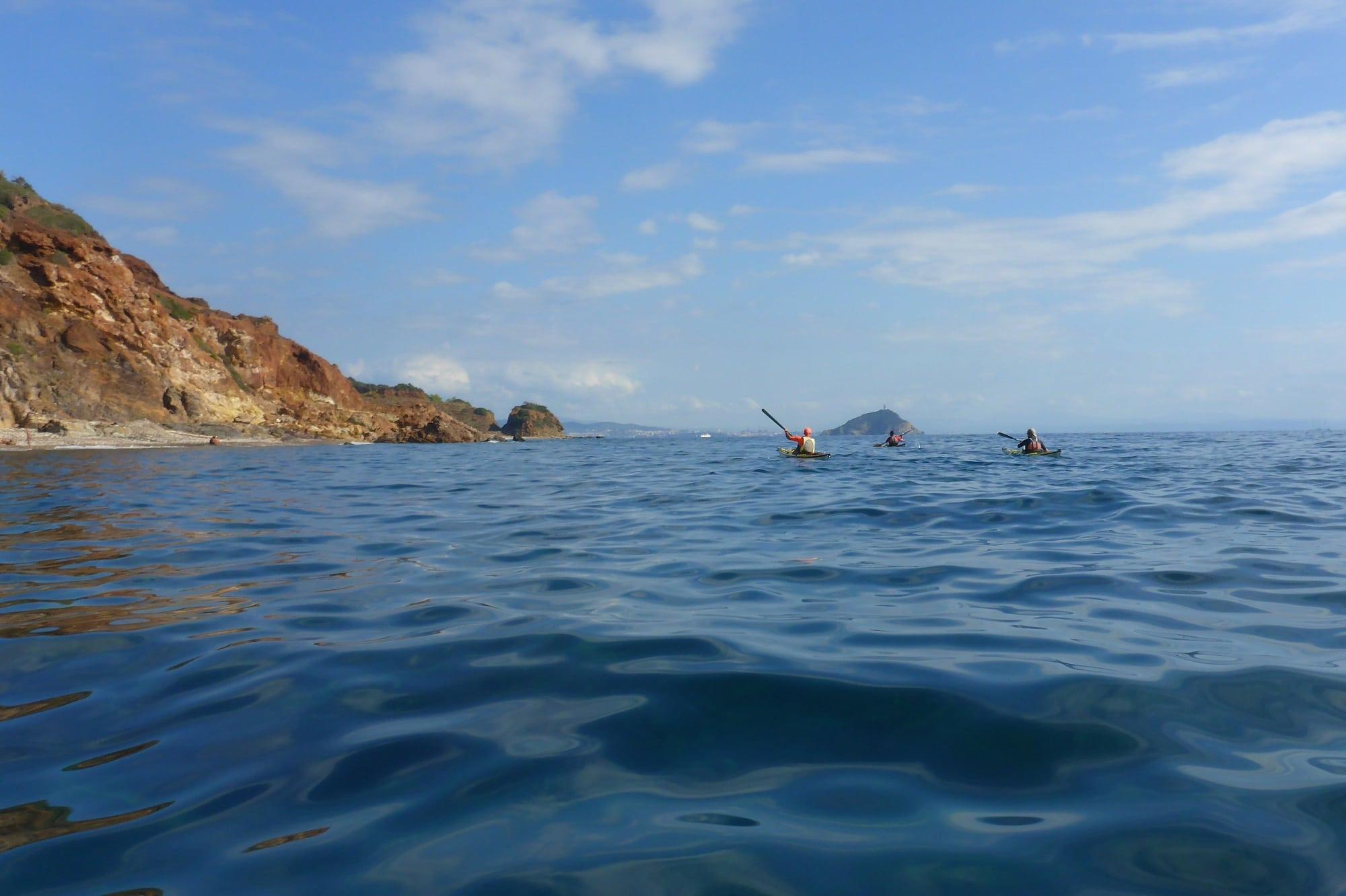 Seekajak Elba an der Ostkueste der Insel