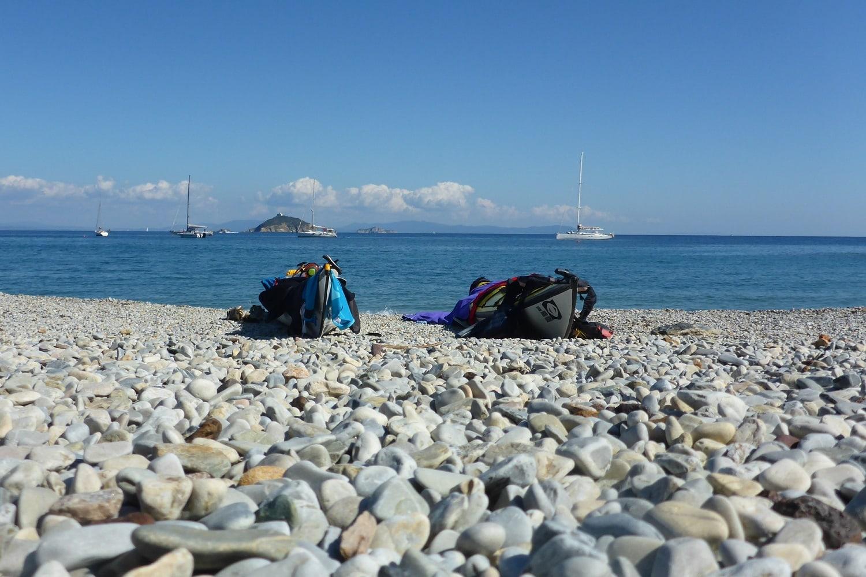 Seekajaks am Strand von Cavo