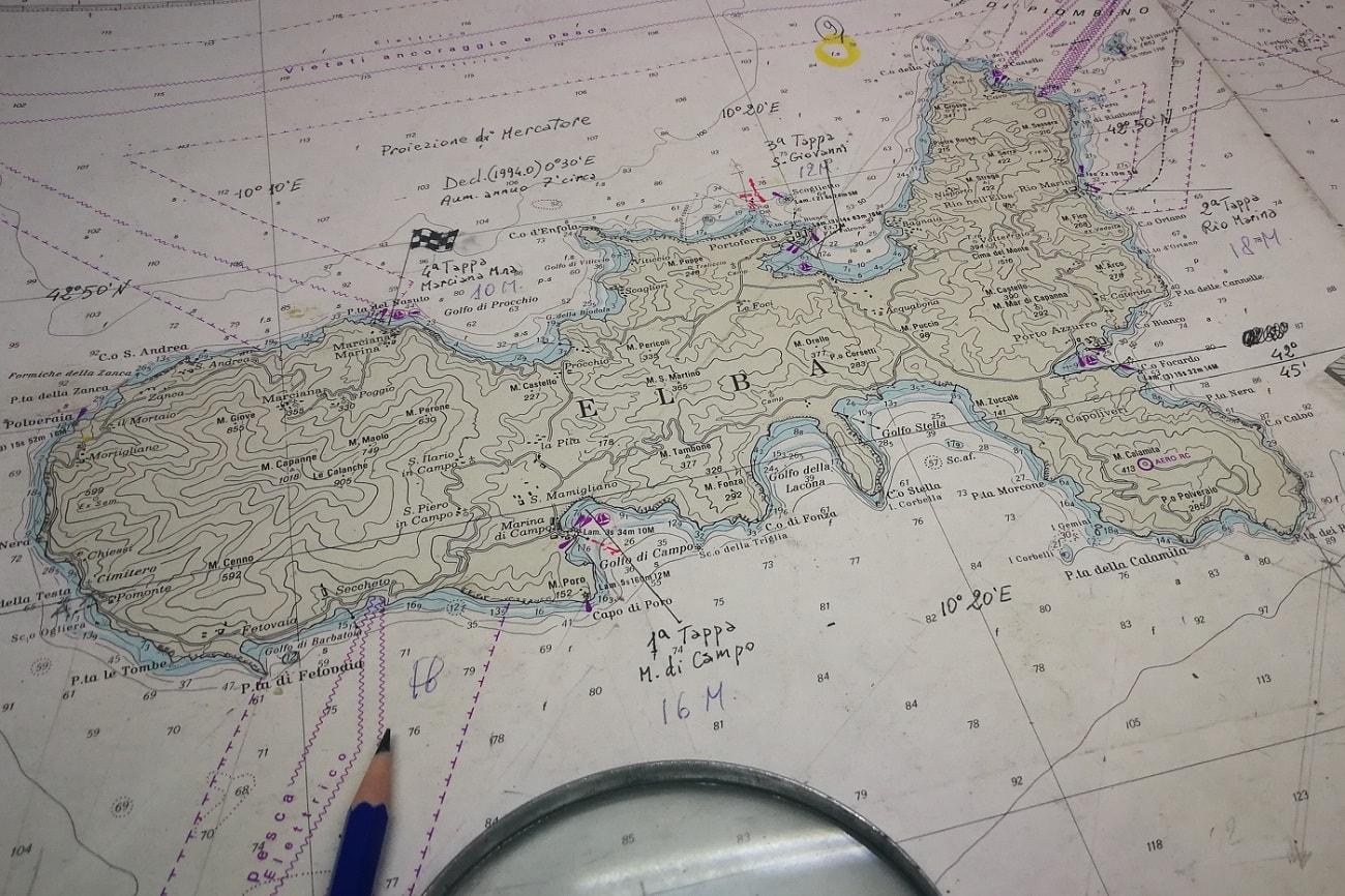 Seekarte Elba