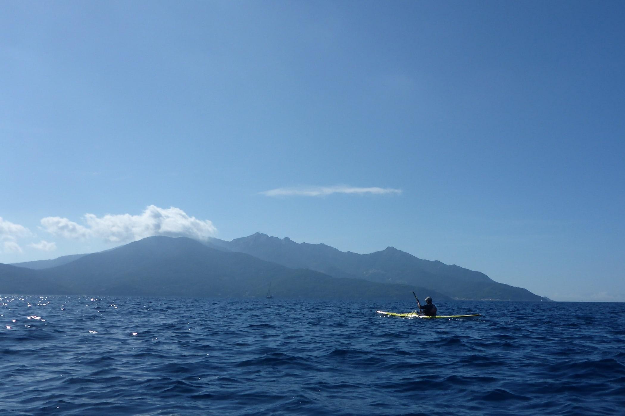 die letzte Querung der Inselumrundung im Golfo di Viticcio