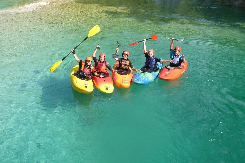 erstes Wildwassercamp an der Soca